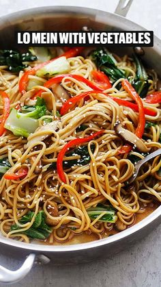Healthy Dinner Recipes, Vegetarian Recipes, Cooking Recipes, Ramen Recipes, Delicious Recipes, Vegetable Lo Mein, Vegetable Dish, Chinese Vegetables, Gula