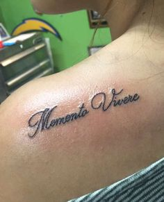 """Memento Vivere"" means remember to live in Italian. Something that stands out to me. Tattoo #4 #meaningfultattoos #mementovivere"