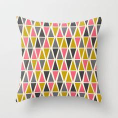 Triangle Mood Throw Pillow by Eine Kleine Design Studio