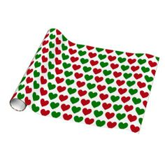 Christmas Hearts Gift Wrap Paper - $18.95 - Christmas Hearts Gift Wrap Paper - by RGebbiePhoto @ zazzle - Red and Green Hearts in alternating colors. Great Christmas Love design!