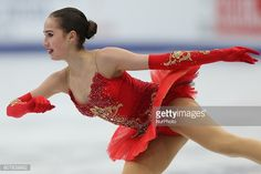 Figure skater Alina Zagitova of Russia performs during the ladies' free skating event at the 2018 ISU European Figure Skating Championships, at Megasport Arena in Moscow, Russia, on January 20, 2018.