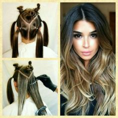– # - All For Hair Color Balayage Diy Ombre Hair, Brown Ombre Hair, Brown Blonde Hair, How To Ombre Your Hair, Ombre Hair At Home, Blonde Honey, Medium Blonde, Honey Hair, Ombre Hair Color For Brunettes