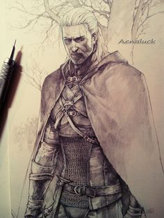 How to Draw Fantasy Easy Drawing Book Best Of Awsome Drawing the Witcher 3 In 2019 The Witcher Books, The Witcher Game, The Witcher Geralt, Witcher Art, Ciri, Character Inspiration, Character Art, Writing Inspiration, Wild Hunt