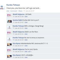koichiidesu:  What happens when #AkaKuro finally snaps. Hohoho. //hums Barney's song// #knb #facebook
