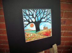 Tree paintinglandscape paintingautumn by heARTofNatureStudio