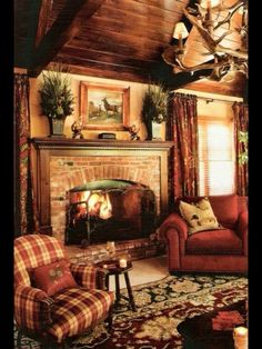Warm wood paneled country cottage cabin