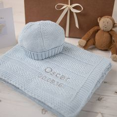 Baby Boys Bubble Blanket And Hat Gift Set by Toffee Moon, the perfect gift for Explore more unique gifts in our curated marketplace.