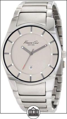 Kenneth Cole KC3891 - Reloj analógico de cuarzo para hombre con correa de acero inoxidable, color plateado de  ✿ Relojes para hombre - (Gama media/alta) ✿