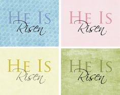 Free HE IS RISEN printable! This would be awesome to frame and put up especially around Easter :)