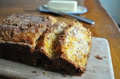 Quick Amish Cinnamon Bread ~~~ - This homemade bread recipe tastes just like Amish cinnamon bread, but doesn't require a starter. Throw it together when you're craving fresh bread.