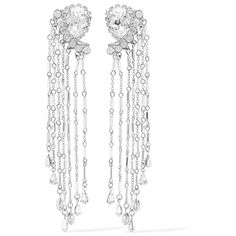 Erickson Beamon Paper Cranes silver-tone crystal and bead earrings (44675 RSD) via Polyvore featuring jewelry, earrings, beads jewellery, crystal earrings, paper bead earrings, paper earrings and paper bead jewelry
