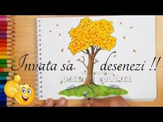 🍃Copac de toamna desenat | Tutorial desen | How to draw autumn tree - YouTube