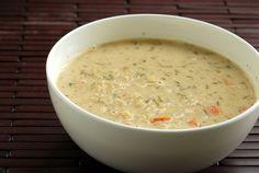 "Greek Lemon and Quinoa Soup (Vegan Avgolemono) even though the tem  ""vegan"" isn't in my vocabulary"