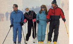 Charles, Diana, Andrew and Sarah on the ski slopes