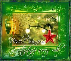 Vánoční přání - Obrázková přání Christmas And New Year, Merry Christmas, Christmas Ornaments, Paper Frames, Holiday Decor, Cards, Scrapbooking, Blog, Weaving