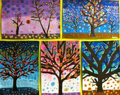 Grade 6 Patterned Tree Designs. So pretty!