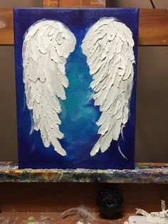 Custom Angel Wings painted just for You by Michelle Lake Angel Wings Art, Angel Wings Painting, White Angel Wings, Angel Drawing, Angel Art, Flower Video, Texture Painting, Colorful Backgrounds, Art Projects