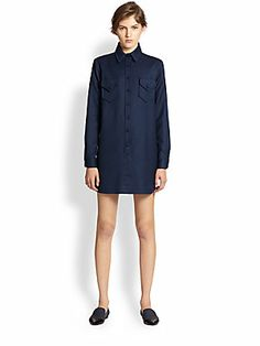 2090fe0f2f2 Opening Ceremony - Chloe Sevigny for Opening Ceremony Wool Shirtdress