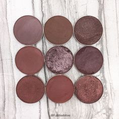 Makeup Geek deep dark brown eyeshadows pictures and swatches