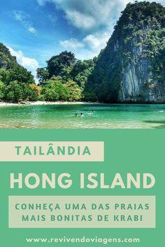 Hong Island, em Krabi, foi uma das mais praias mais bonitas que conheci na Tailândia. Ásia. Sudeste Asiático. #praia #Tailândia #Asia