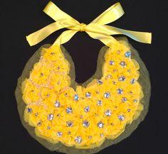 Yellow Bib Necklace by WearMeKnot on Etsy, $59.00