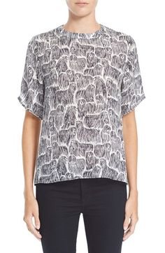 Opening Ceremony Komondor Print Silk Top available at #Nordstrom