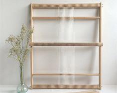 Weaving Loom XXL with heddle bar, stand (optional) and rotating warp bars / Frame Loom / Weefraam
