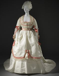 Ball Gown   c.1868  From LACMA