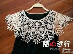 Crochet Collar, Lace Collar, Crochet Cape, Knit Crochet, Bolero, Capes For Women, Textiles, Christmas Snowflakes, Tatting