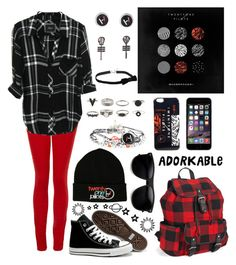 """""""Sometimes you have to bleed to know; that your alive and have a soul"""" by littlenerd10 ❤ liked on Polyvore featuring Paige Denim, Converse, Aéropostale and nerdsoutfit"""