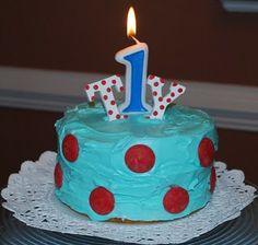 Polka Dot Birthday Supplies, Decor, Clothing: Ty's Red and Aqua Polka Dot Birthday