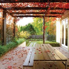 A great place for tea. Whilst old within concept, the particular pergola continues to be Outdoor Projects, Outdoor Rooms, Exterior Design, Outdoor Inspirations, Rustic Patio, Garden Deco, Brick Planter, Outdoor Entertaining Area, Cottage Garden