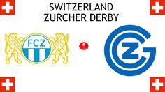 1897, Switzerland (1st ZURCHER DERBY), FC Zürich < > Grasshopper Club Zürich #FCZürich #GrasshopperClubZürich #Switzerland (L6104) Derby, Sports Logos, Football Match, Shopper, Logo Design