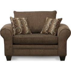 Hudson Chocolate Chair | Fabric Furniture Sets | Living Rooms | Art Van  Furniture   Michiganu0027s