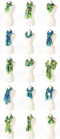 15 ways to Tie the Knot on Scarves around your neck..