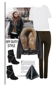 """Off-Duty Model Style:Mila Krasnoiarova"" by dianefantasy ❤ liked on Polyvore featuring M&Co, Acne Studios, Splendid, 'S MaxMara, Schutz, McQ by Alexander McQueen, polyvorecommunity, polyvoreeditorial and offduty"