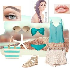 Aqua Day, created by couturecarolina on Polyvore
