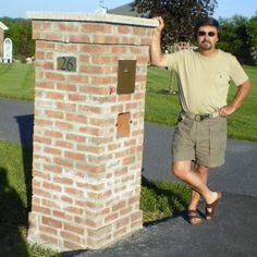 Bild Your Own Brick Mailbox. Foundation, Cement Block, 300 Brick And Off You Go…