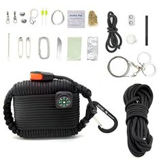 Gecko Equipments Paracord Deluxe Grenade Survival Kit Black ** Check out the image by visiting the link.