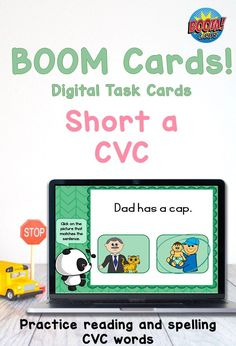 Perfect for distance learning, summer practice, tutoring or homeschool this set of short a CVC digital task cards is sure to be a hit! Provides reading and spelling practice. Students read words and find matching pictures, Read short sentences and match with pictures and spell words with letter tiles. The spelling cards include sound to help the student identify the word to spell. Reading Words, Reading Fluency, Teaching Reading, Learning Games, Kids Learning, Study Materials, Teaching Materials, Words To Spell, Phonics Rules