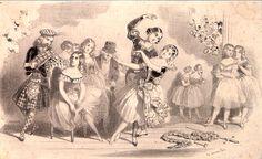 La Sylphide - ballet romantique de Filippo Taglioni créé en 1832 à l'Opéra de Paris - MAS Estampes Anciennes - Antique Prints since 1898