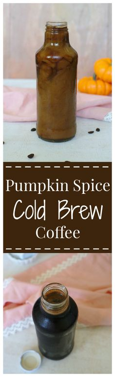Pumpkin Spice Cold Brew Coffee – A simple to make fall drink! Coffee cold brewed with delicious pumpkin pie spices over night! [ad] @sksbottle #SKSHarvest #SeasonalSolutions