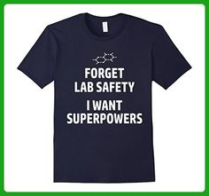 Mens Forget Lab Safety I Want Superpowers Funny Science T-Shirt 2XL Navy - Math science and geek shirts (*Amazon Partner-Link)