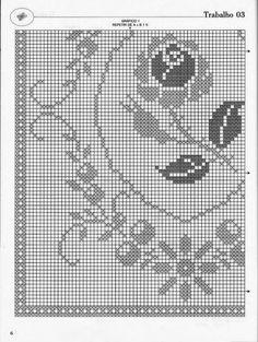 Professione Donna: Schemi per il filet: Tappeto con fiore centrale