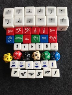 This package of dice is designed for 12 students (6 sets of partners). It contains the following dice: 6 sets of Lines and Space notes (without clefs) 6 Clef Dice (which contain treble clef, bass clef