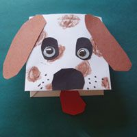 dog craft..from enevelope, much easier for small children to manipulate than a paper lunch bag