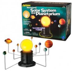 GeoSafari Motorized Solar System - Educational Toys Planet. Great gift for 8 years old child. This terrific Solar System toy for children includes the unique star dome that converts the solar unit into astonishing planetarium show to find major stars and constellations. Develops Skills - science, astronomy, observation skills, imagination. #toys #learning #educational #gifts #child https://www.educationaltoysplanet.com/geosafari-motorized-solar-system.html