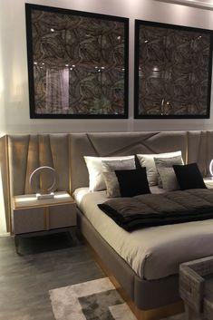 Modern Luxury Bedroom, Luxury Bedroom Design, Master Bedroom Interior, Bedroom Bed Design, Modern Bedroom Furniture, Home Room Design, Luxurious Bedrooms, Cama Design, Bed Back Design