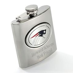 NFL Personalized Flask - great gift for the groom or groomsmen! #wherebridesgo #weddings