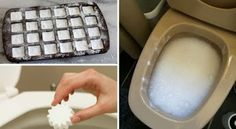 These DIY toilet bombs make keeping your toilet bowl clean a breeze! Just pop it in and let the natural ingredients make quick work of bacteria. Deep Cleaning Tips, House Cleaning Tips, Natural Cleaning Products, Cleaning Hacks, Toilet Cleaning, Bathroom Cleaning, Clean Toilet Stains, Limpieza Natural, Homemade Toilet Cleaner